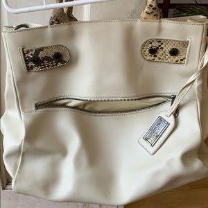 Badgley Mischka beige purse
